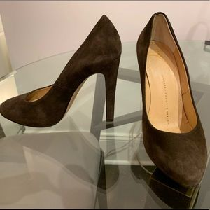 Giuseppe Zanotti Shoes - Guiseppi Zanotti Brown Suede Pumps